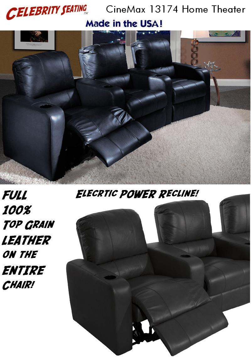 Celebrity Seating's Cinemax home theater seating