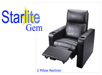 Starlite Gem 2 Pillow VIP Recliner Theater Seating $350 Manual / $430 Electric