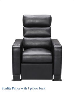 starlite prince recliner theater seating