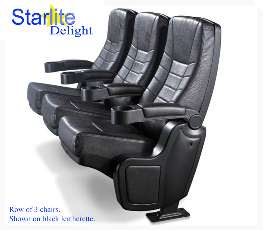 Starlite Delight Black Leatherette new theater seating