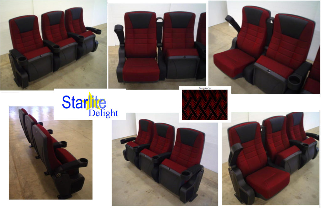 Starlite Delight Burgundy new theater seating