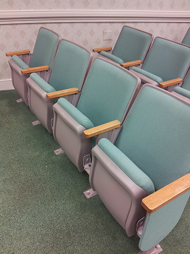PA used church chairs theater seats