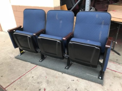 Blue Marquee used theater seating f