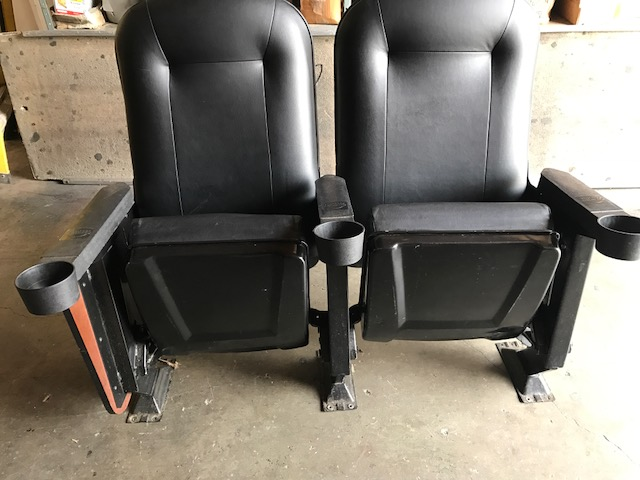 Faux leather used theater seats