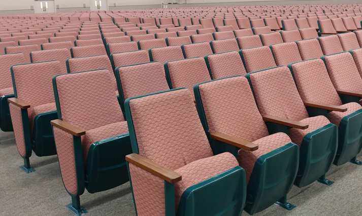 Used theater seats Fremont Assembly Hall