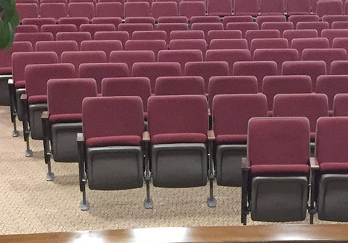 100 used AUDITORIUM THEATER SEATING church assembly hall chairs seats