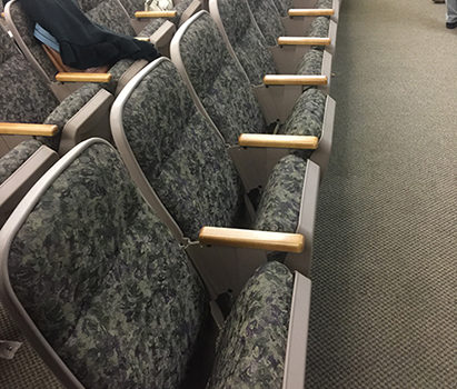 Used auditorium church chairs. 180 used AUDITORIUM MEETING ROOM theater seating. $39 each.