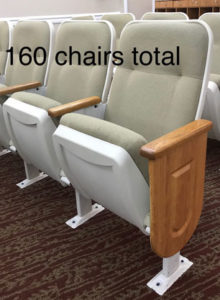 Used theater seating lot 3 used church chairs for sale