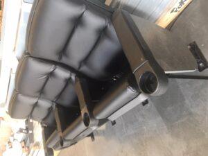 Black leatherette Los Feliz Signatures used theater seating