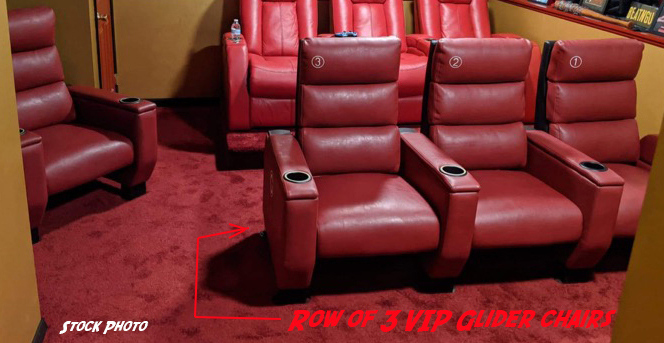 Used theater seating. VIP Glider used theater seats.